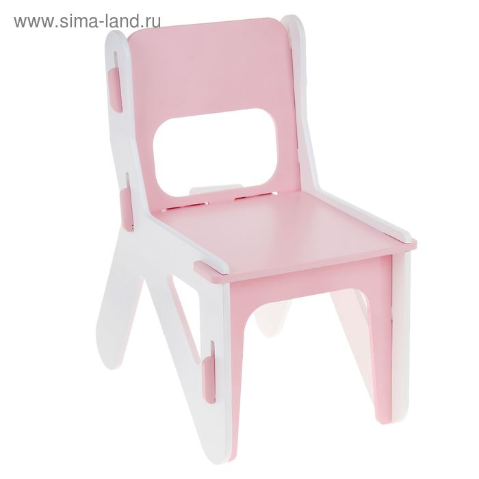 Детский стульчик ДШ №1, цвет розовый