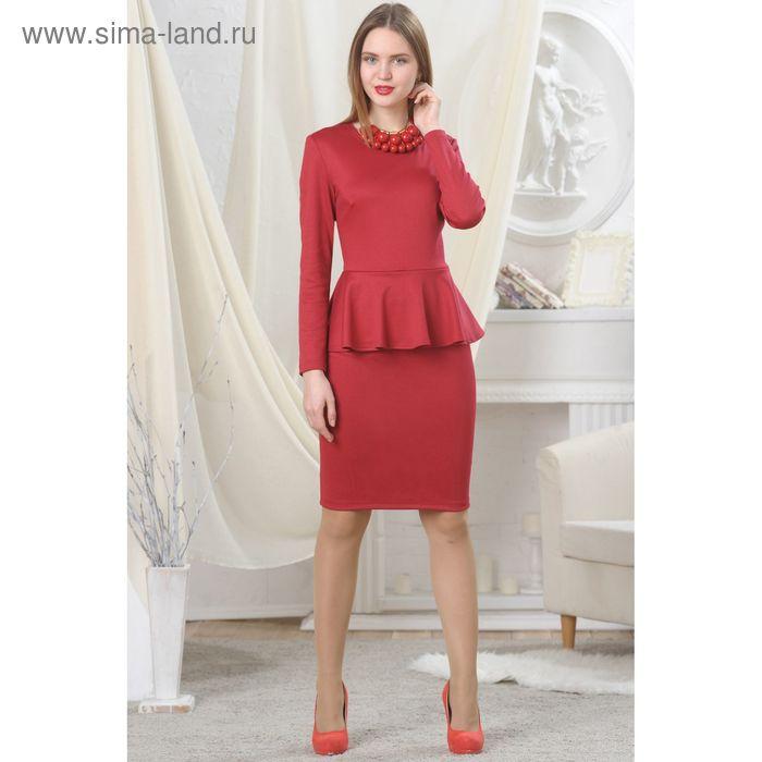 Платье женское, рост 164 см, размер 46, цвет красный (арт. 4728)