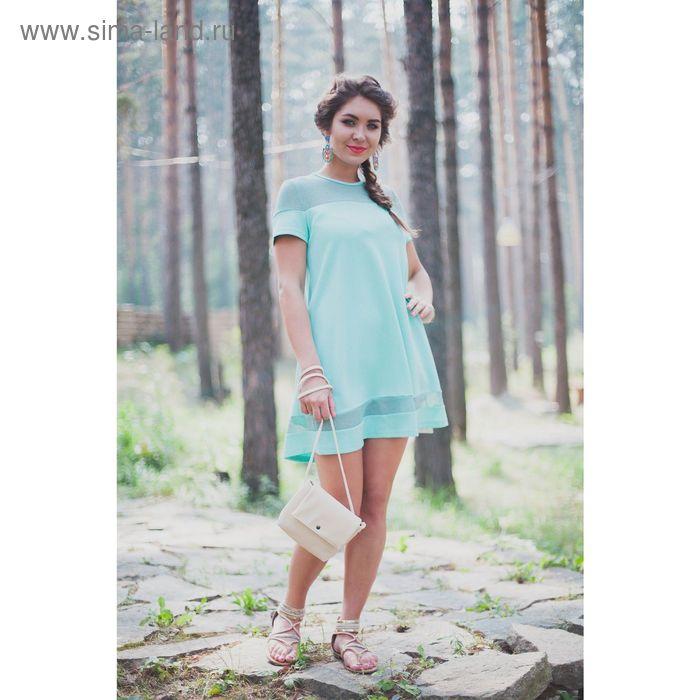 Платье женское, рост 164 см, размер 48, цвет светло-зелёный (арт. 4698)