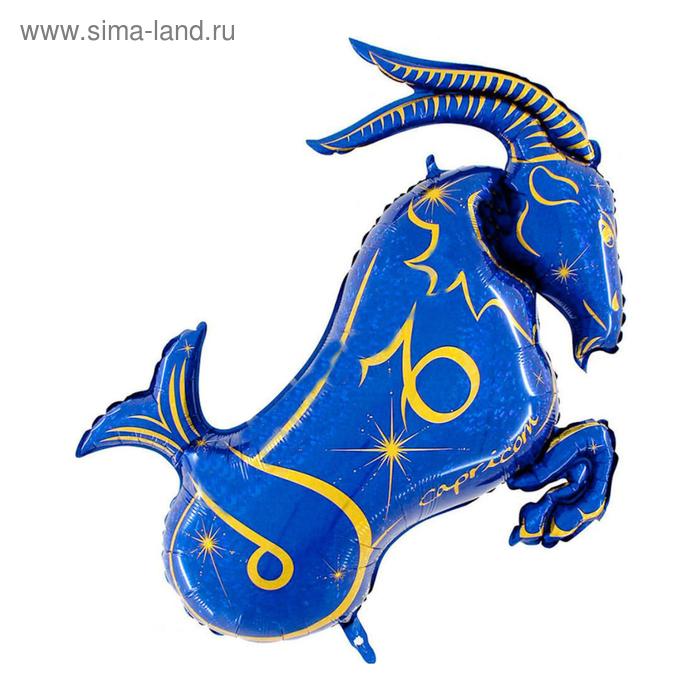 """Шар фольгированный 42"""" """"Знак зодиака Козерог"""", цвет синий"""
