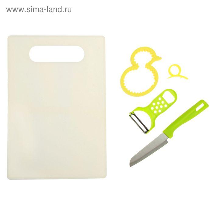 Набор 6 пред: нож, овощечистка, открывалка для банок, прибор для цитрусовых УЦЕНКА