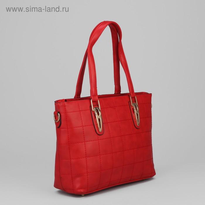 """Сумка женская на молнии """"Эврика"""", 1 отдел, 1 наружный карман, красная"""