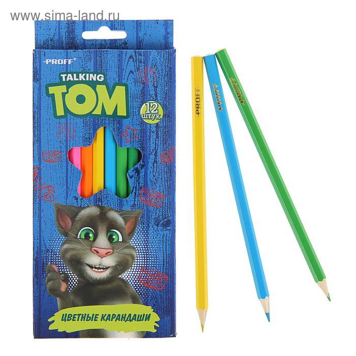 Карандашия 12цв Говорящий Том, в карт/коробке TT16-BCL12