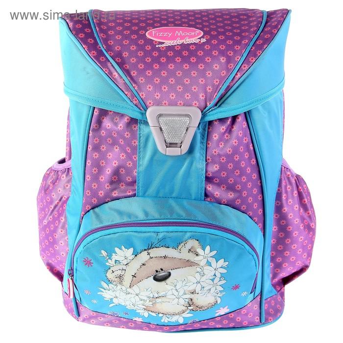 Ранец на замке Fizzy Moon 36,5*29*18,5см, эргономичная спинка, для девочки, розово-голубой