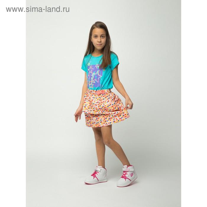 Юбка для девочки, рост 128 см (64), цвет персик (арт. CJ 7T033)
