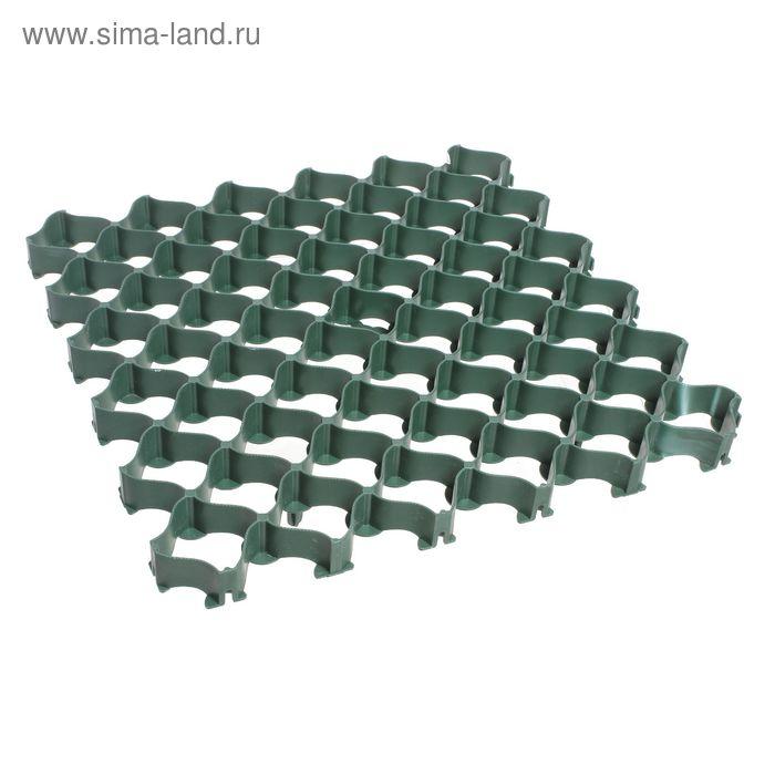 Садовая плитка с высоким профилем 0,5 х 0,5м зелёная