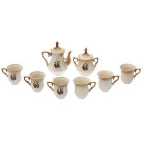"""Чайный набор """"Элей"""" коричневый, Мадонна, 8 предметов, 0,6 л/ 0,25 л"""