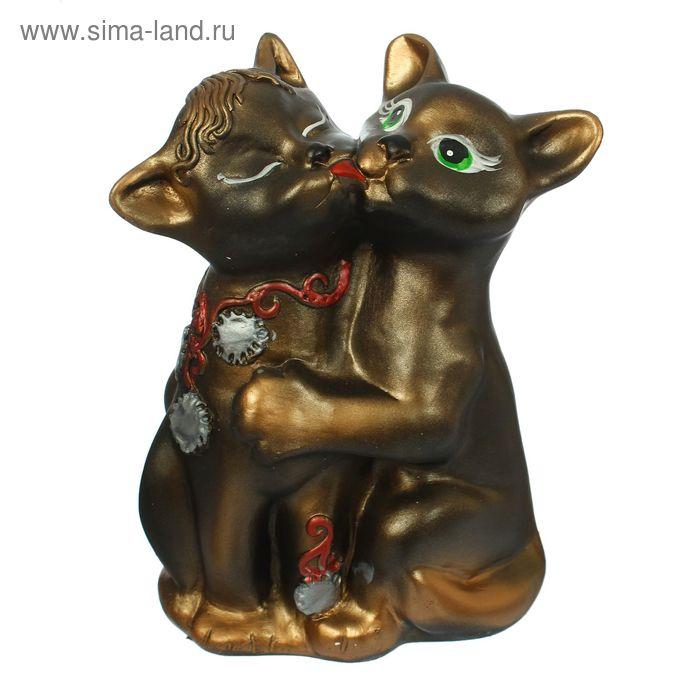 """Копилка """"Котята: любовь"""" бронза"""