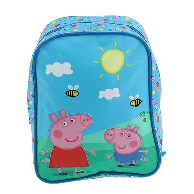 """Рюкзачок детский """" Свинка Пеппа"""" 28*21*12,5 см, голубой"""