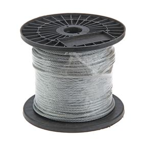 Трос для растяжки DIN 3055, d=5 мм, в катушке 100 м