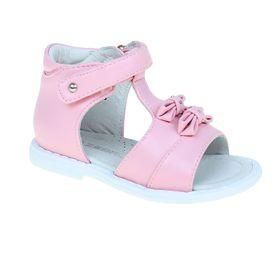 Туфли открытые малодетские Зебра, цвет розовый, размер 22 (арт. 10382-9)