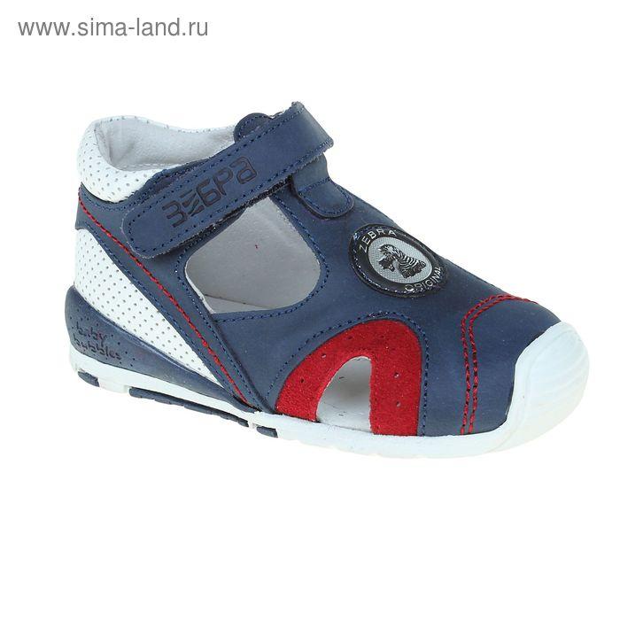 Туфли открытые малодетские Зебра, цвет синий, размер 21 (арт. 10570-5)