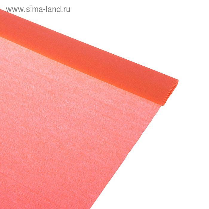 Бумага крепированная 50*250см, 32 г/м2, лососевая, в рулоне