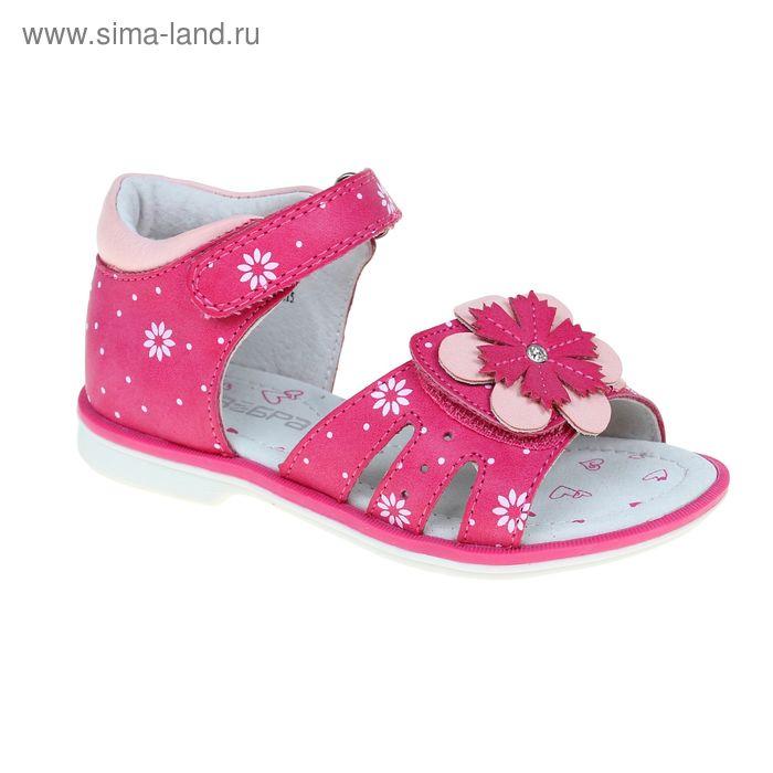 Туфли открытые малодетские Зебра, цвет малиновый, размер 29 (арт. 10577-22)
