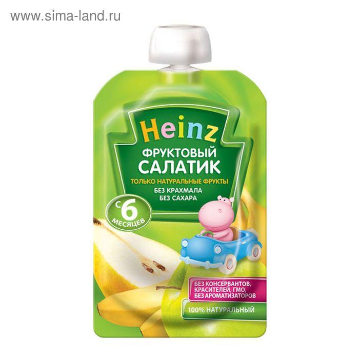 """Фруктовое пюре Heinz фруктовый салатик, пауч 100 г"""""""