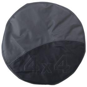 Чехол запаски, размер R 15,  черно-серый