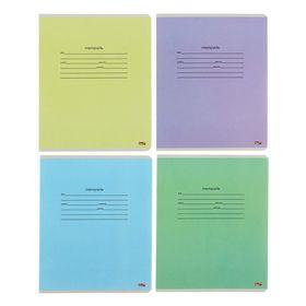 """Тетрадь 12 листов линейка """"Школьная классика-3"""", обложка картон хромэрзац, 5 видов МИКС в коробке"""