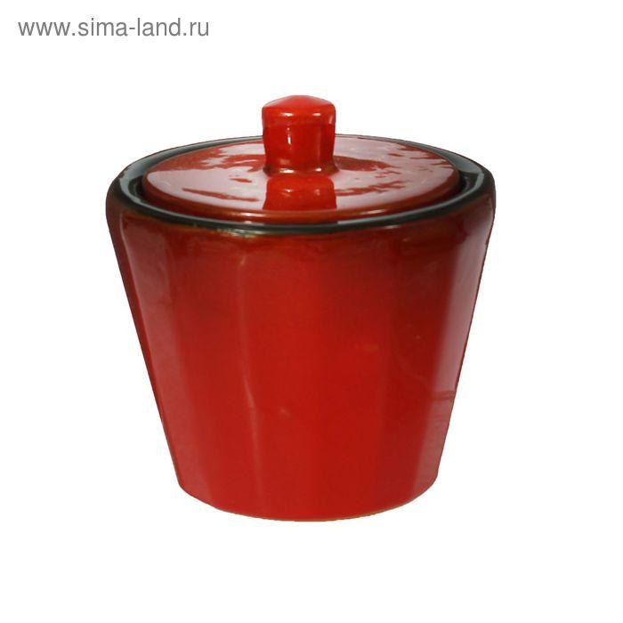 """Сахарница """"Ностальгия"""" кофейная красный 0,2 л"""