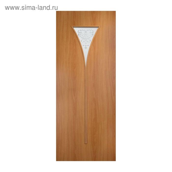 Дверное полотно Сатинато Миланский орех  остекленное С-4 2000х800