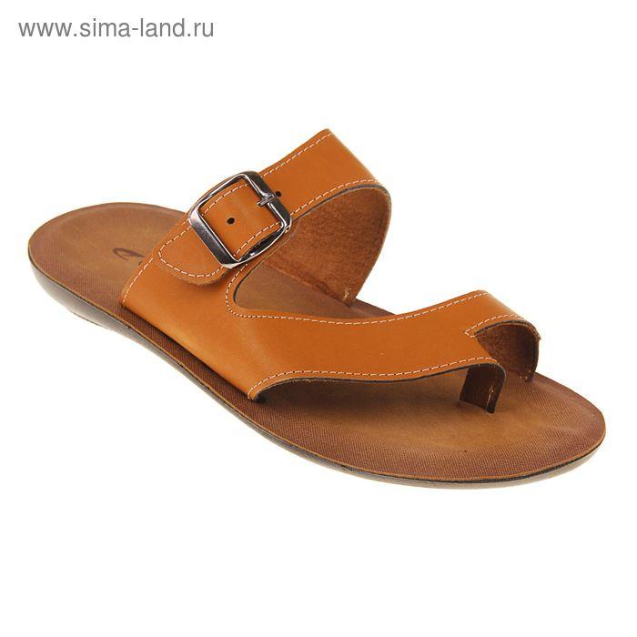 Туфли летние мужские открытые, цвет коричневый, размер 41 (арт. 143-415 EМ)