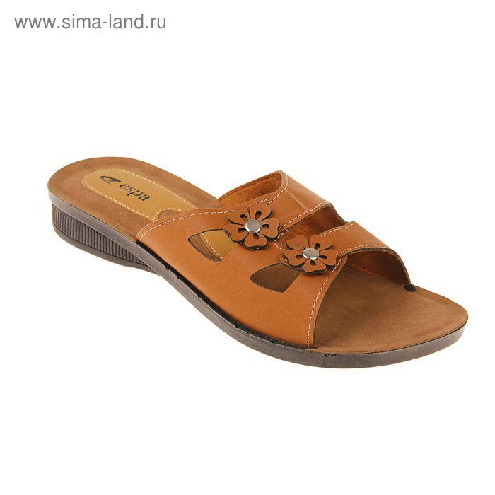 Туфли летние женские открытые, цвет коричневый, размер 40 (арт. 143-450 EW)
