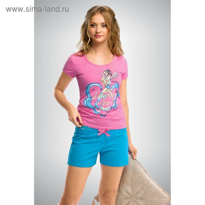 Пижама женская, цвет розовый, размер 46 (M) (арт. PTH293)