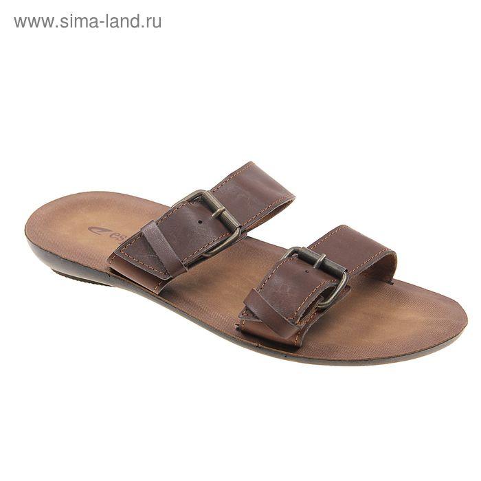 Туфли летние мужские открытые, цвет коричневый, размер 44 (арт. 143-424 EМ)