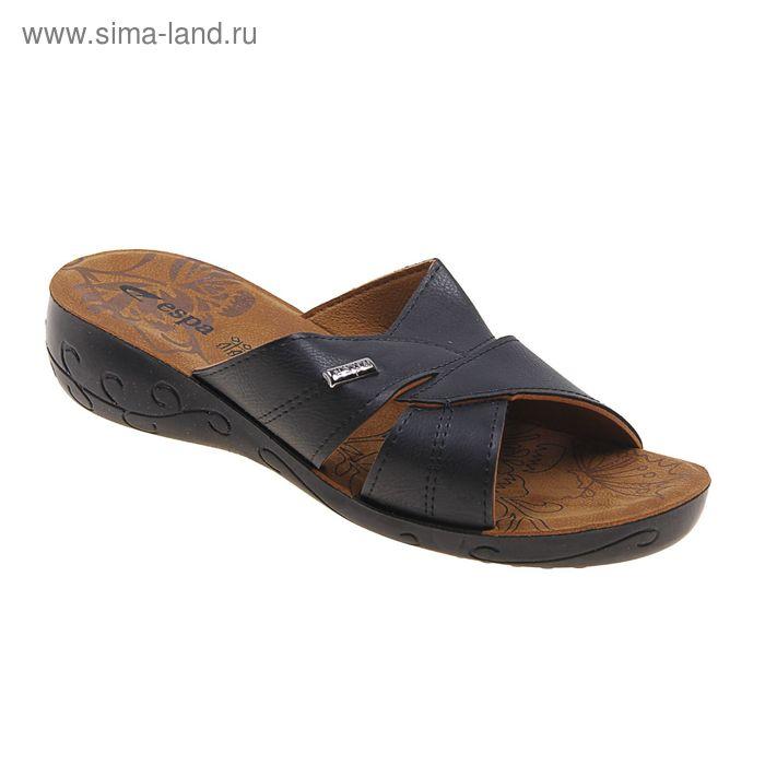Туфли летние женские открытые, цвет чёрный, размер 38 (арт. 143013-1 EW)