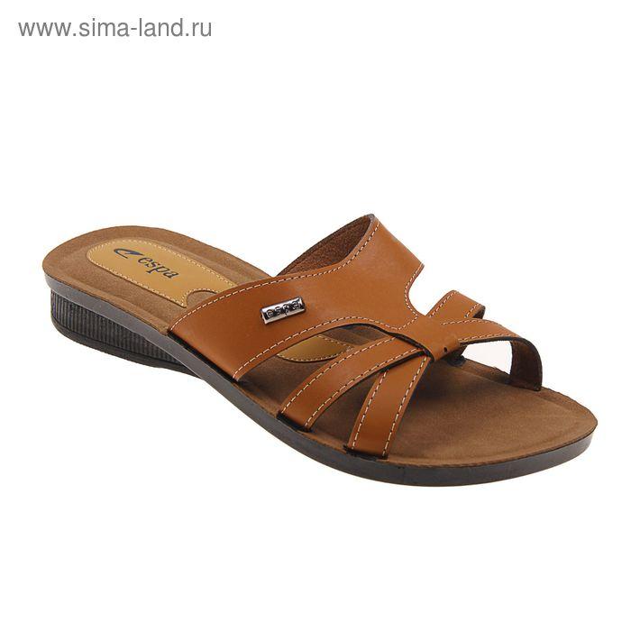 Туфли летние женские открытые, цвет коричневый, размер 40 (арт. 143-453 EW)