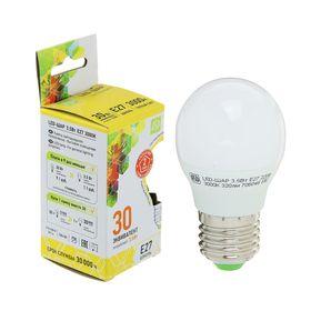 """Лампа светодиодная ASD, Е27, 3.5 Вт, 210 - 240 В, 3000 К, 320 Лм, """"шар"""""""