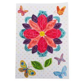 """Набор для создания квиллинг открытки """"Бабочки"""""""
