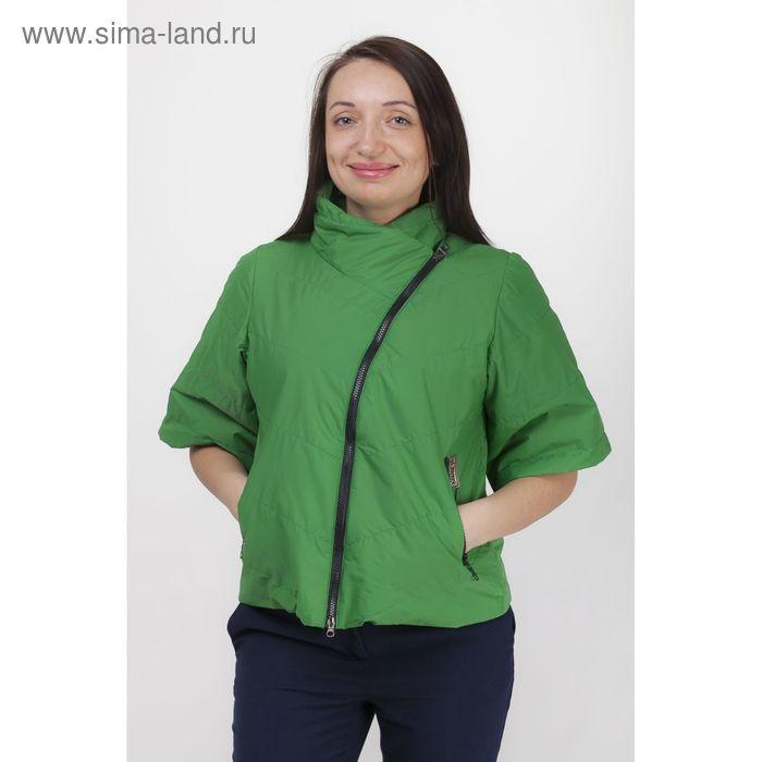 Куртка женская, рост 168 см, размер 48, цвет зелёный (арт. 39)