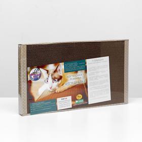 Домашняя когтеточка-лежанка для кошек 56 x 30 (когтедралка)