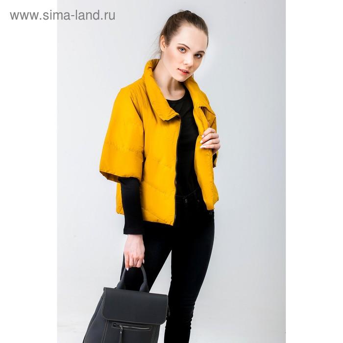 Куртка женская, рост 168 см, размер 50, цвет горчица (арт. 39 С+)
