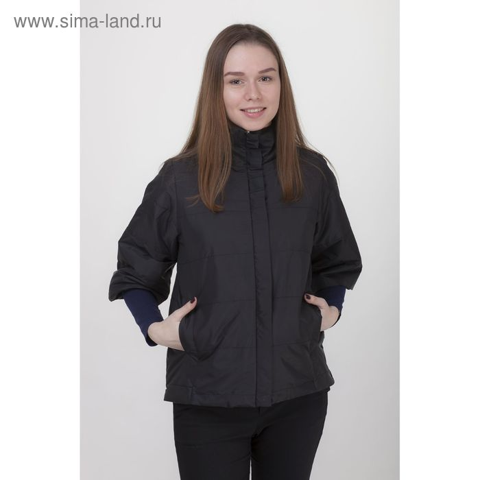 Куртка женская, рост 168 см, размер 50, цвет чёрный (арт. 63 С+)
