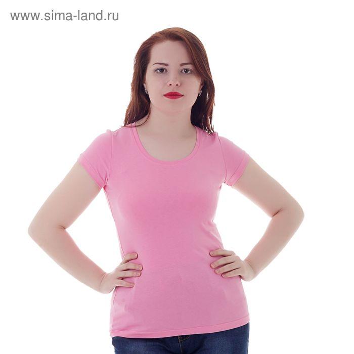 Футболка женская, цвет розовый, размер 44 (S) (арт. Б125)