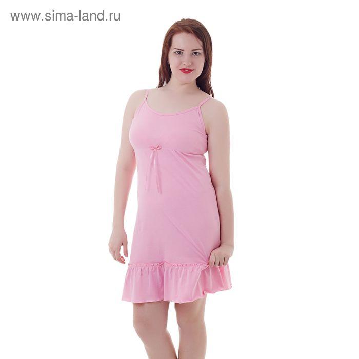 Сорочка женская А336, розовый, р-р 46 (M)