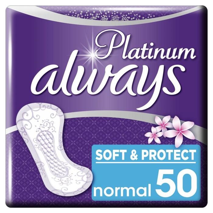Прокладки ежедневные «Always» Platinum Collection Deo Normal, 50 шт