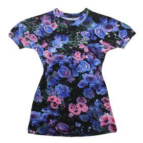 """Платье """"Крылья бабочки"""", рост 122 см (62), цвет чёрный, принт розы (арт. ДПК446820н)"""