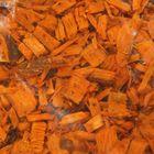 Щепа декоративная (мульча) 5кг, оранжевая