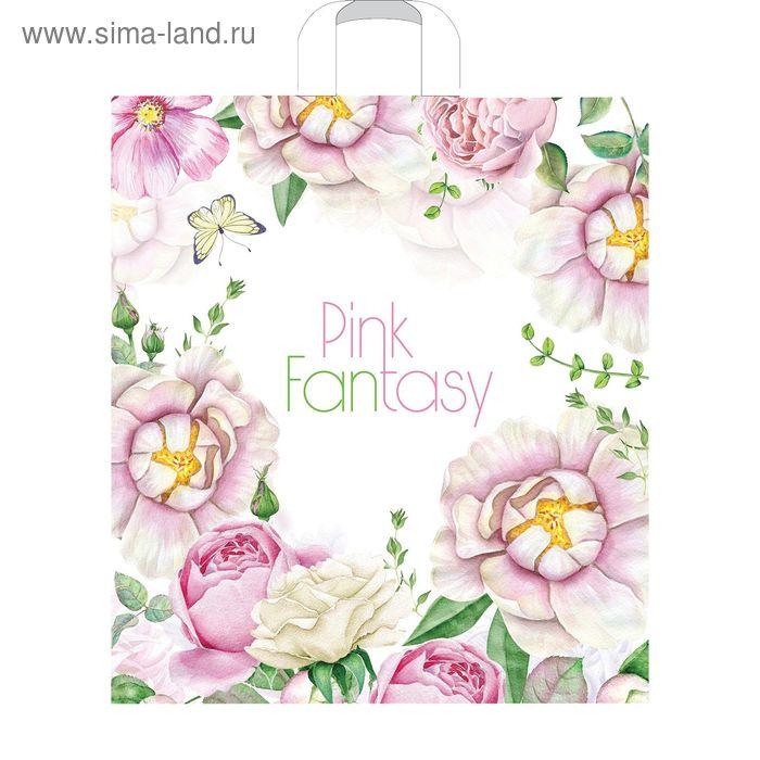 """Пакет """"Розовая фантазия"""", полиэтиленовый с петлевой ручкой, 38х45 см, 45 мкм"""