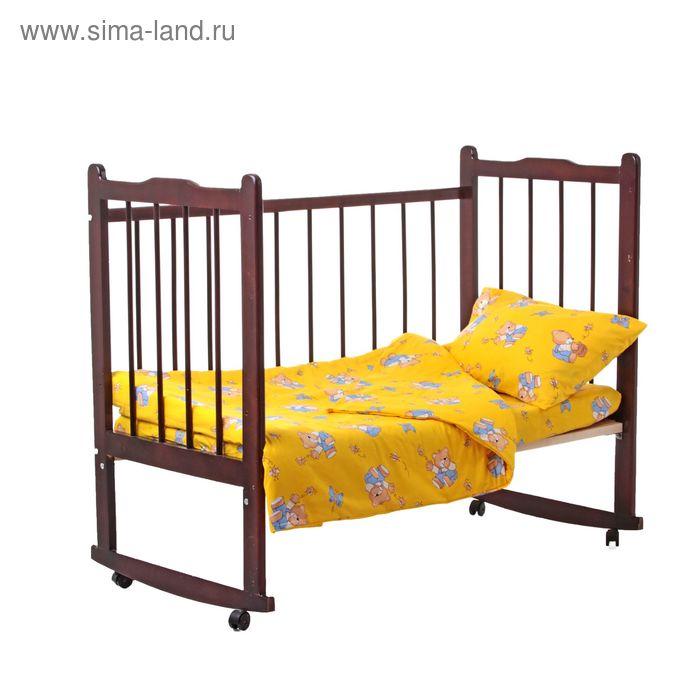 "Постельное бельё ""За мёдом"", пододеяльник 110х140, простыня на резинке 90х150, наволочка 40х60-1 шт., цвет жёлтый (арт. 10021)"