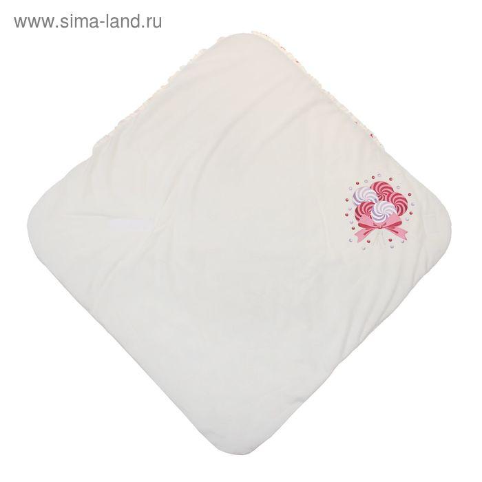 Одеяло-конверт на липучке, цвет молочный, размер 75x75x1 см (арт. 40-8510)