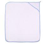 Полотенце-уголок для мальчика, размер 80х90 см, цвет белый (арт. 28050-С)