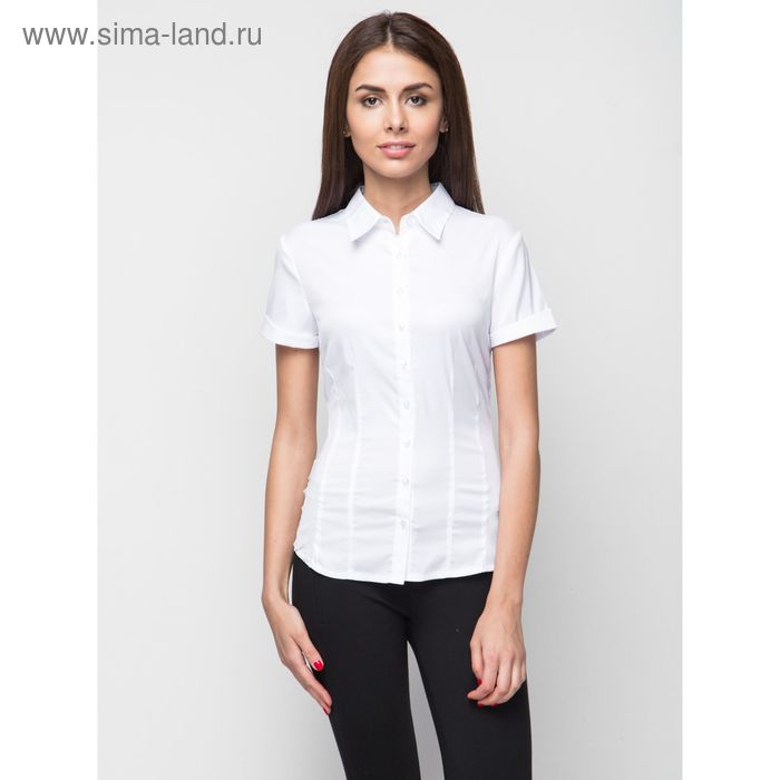 Блузка женская с коротким рукавом, рост 170 см, размер 40, цвет белый (арт. 905-132198-1)