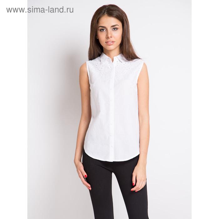 Блузка женская с коротким рукавом, рост 170 см, размер 46, цвет белый (арт. 15166-0,1)