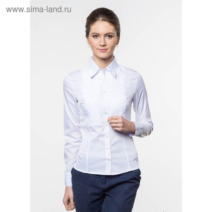 Блузка женская с длинным рукавом, рост 170 см, размер 50, цвет белый (арт. 905-1216L)