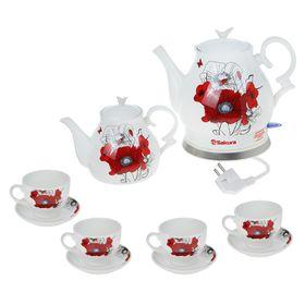 Чайный набор SA-2906C, 1.5 л, 1500 Вт, 10 предметов, керамический