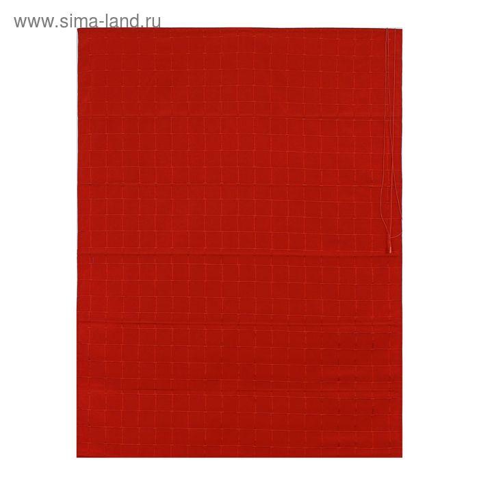 Римская тканевая штора 100х160 см Ammi, цвет красный