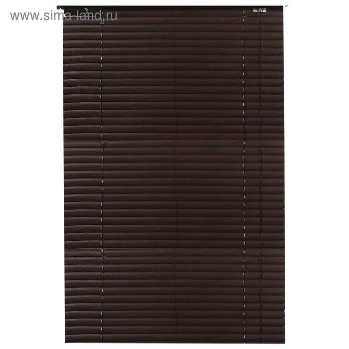 Жалюзи пластиковые 140х160 см, цвет темный кофе (полоса 3,8 см)